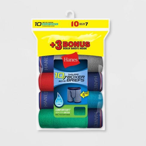 Hanes Boys' Ringer Boxer Briefs 7+3 Bonus Pack - Colors Vary - image 1 of 1