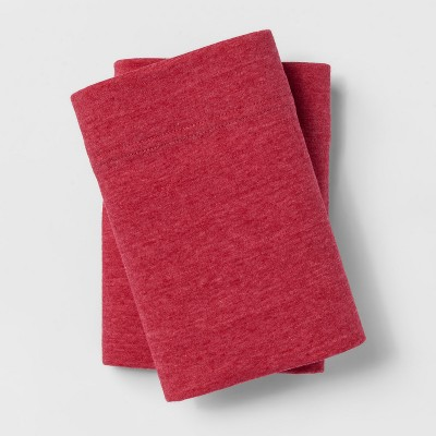 Jersey Pillowcase Set (Standard)Heather Red - Room Essentials™