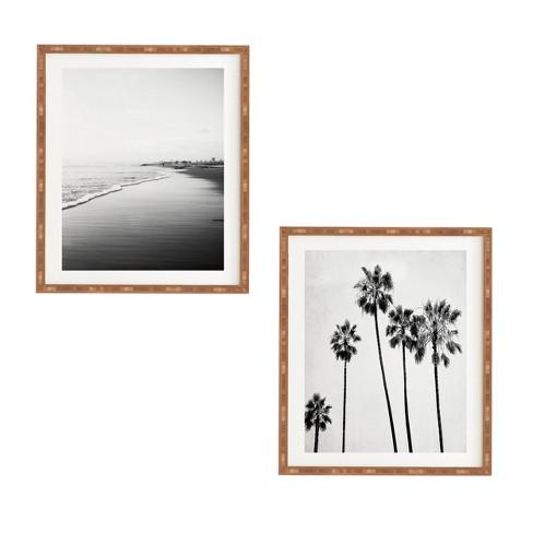 12 x12 2pc five palms framed decorative wall art set white deny