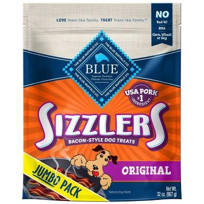 Blue Buffalo Sizzlers Bacon-Style Dog Treats - 32oz
