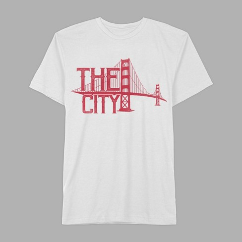 Men's Short Sleeve The City Golden Gate Bridge Graphic T-Shirt - Awake White - image 1 of 2