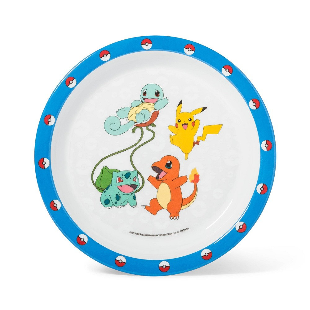 """Image of """"Pokemon 8"""""""" Melamine Kids Dinner Plate"""""""