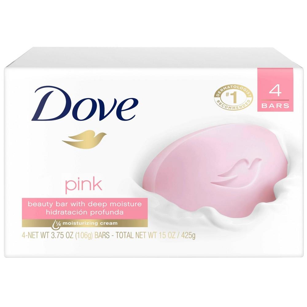 Dove Pink Deep Moisture Beauty Bar Soap 4pk 3 75oz Each