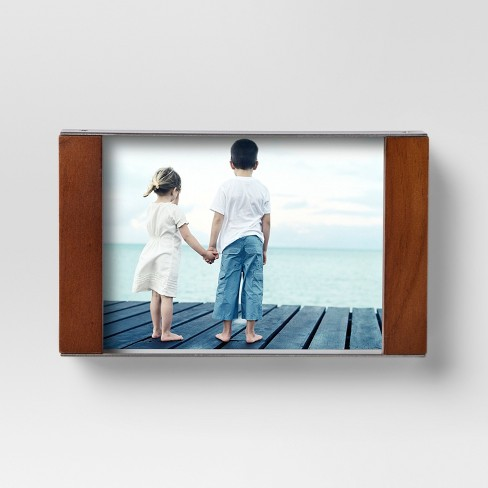 Single Image Block Frame 4x6 - Wood/Silver - Project 62™ : Target