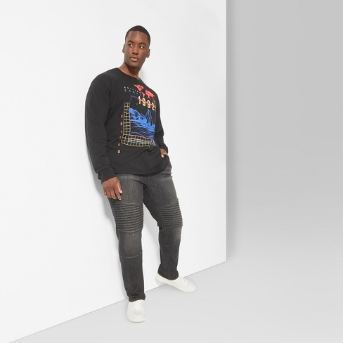 Men's Tall Long Sleeve Crew Graphic T-Shirt - Original Use™ Oceanique LT - image 1 of 3