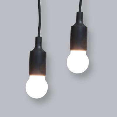 2pk Outdoor LED Battery Operated Pendant Black - Project 62™