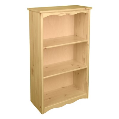 Little Colorado Traditional Wooden Children's 3 Shelf Bookcase with Tip Over Protection for Kids Bedrooms or Playrooms, Natural