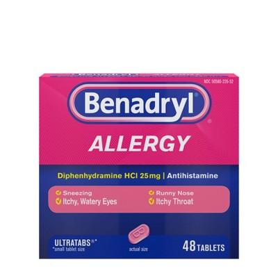 Benadryl Ultratabs Allergy Relief Tablets - Diphenhydramine - 48ct