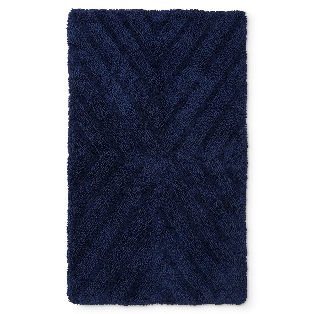 "Image of ""38""""x23"""" Tufted Bath Rug Oxford Blue - Project 62 + Nate Berkus"""