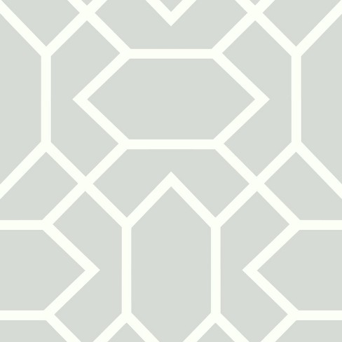 Roommates Modern Geometric Peel Stick Wallpaper Gray Target