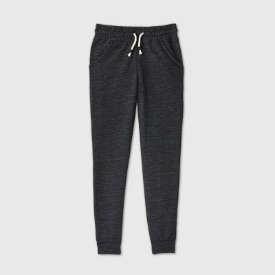 Girls' French Terry Jogger Pants - Cat & Jack™ Black