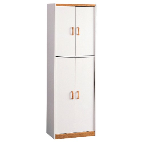 'Daywood 72'' Kitchen Pantry Cabinet White/Light Brown - Room & Joy'