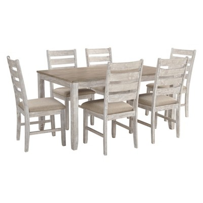 Set of 7 Skempton Dining Room Table Set Light Brown - Signature Design by Ashley