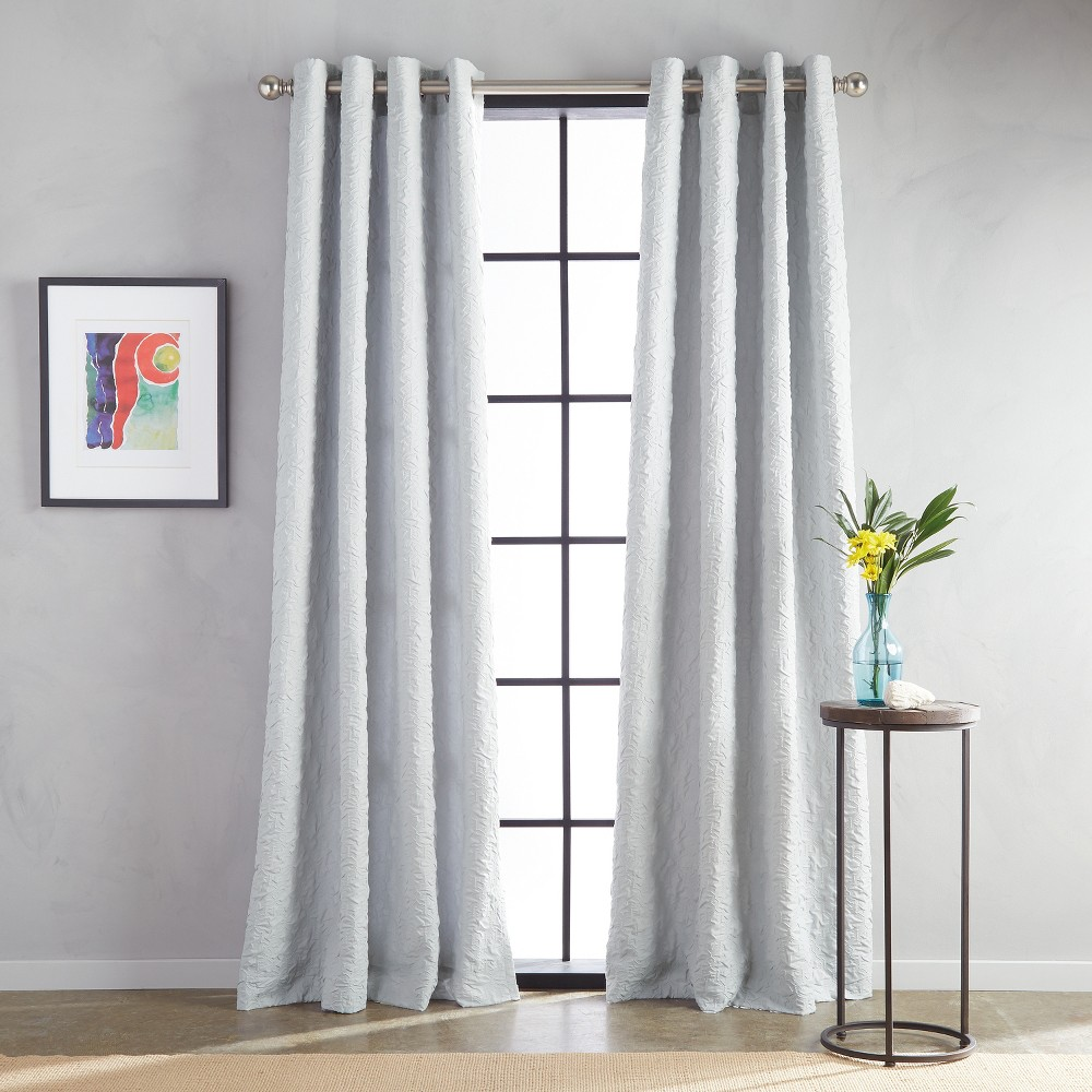 "Image of ""108"""" Calista Grommet Lined Curtain Panel Gray"""