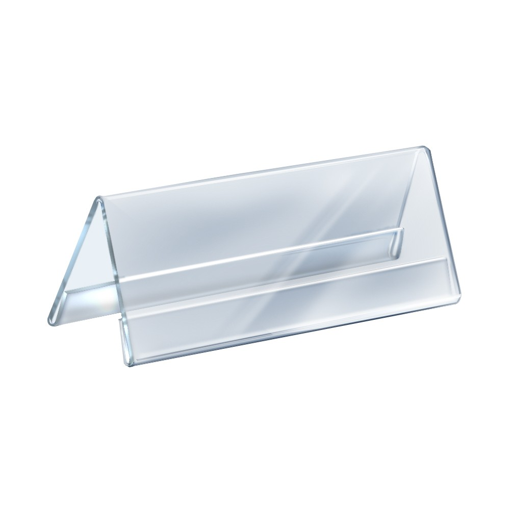 Azar 11 x 4.25 Two-Sided Acrylic Nameplate 10ct, Clear