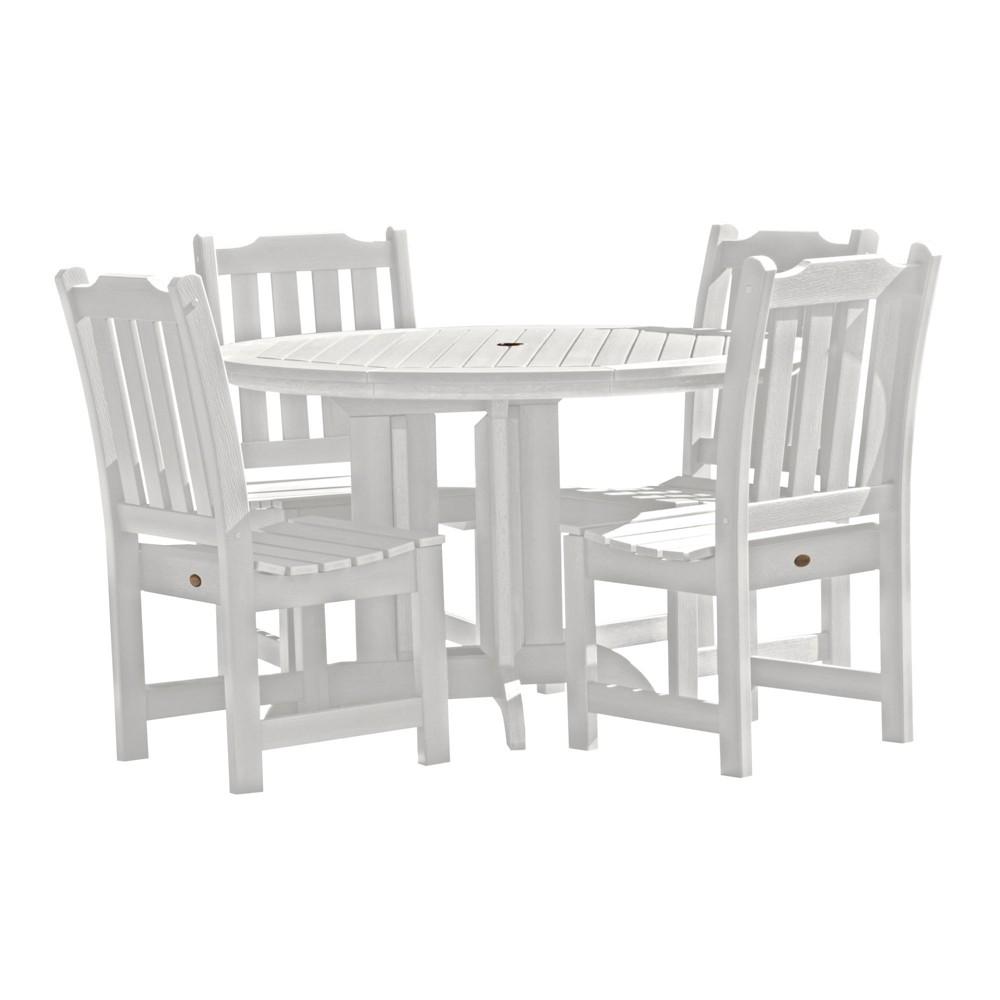 Lehigh 5pc Round Dining Set White - Highwood