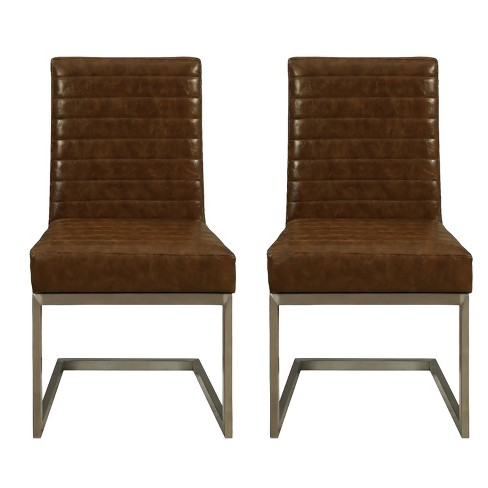 Uptown Contemporary Dining Chairs (Set of 2) - Lenox Brown - Treasure Trove - image 1 of 4