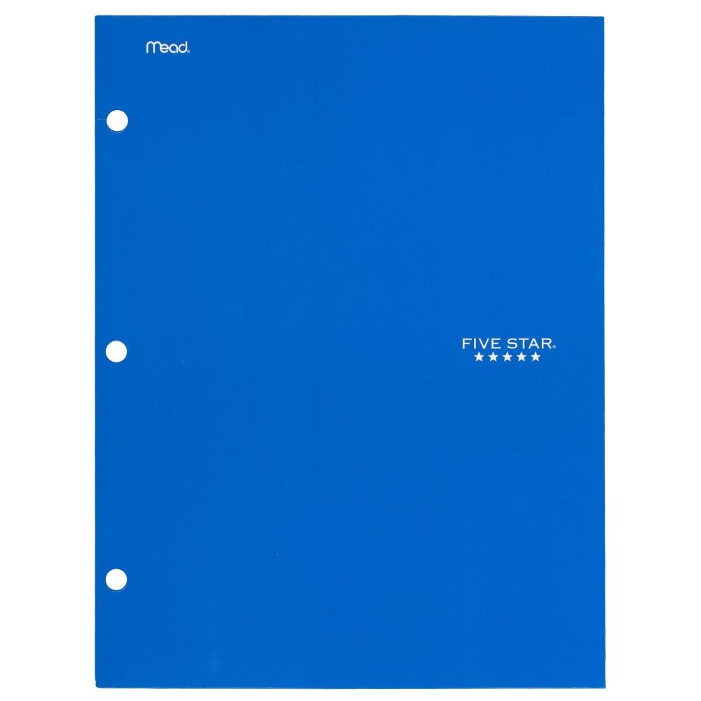 Image of Five Star 4 Pocket Paper Folder Blue