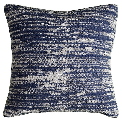 Blue Stripes Throw Pillow - (20x20) - Rizzy Home - image 1 of 1
