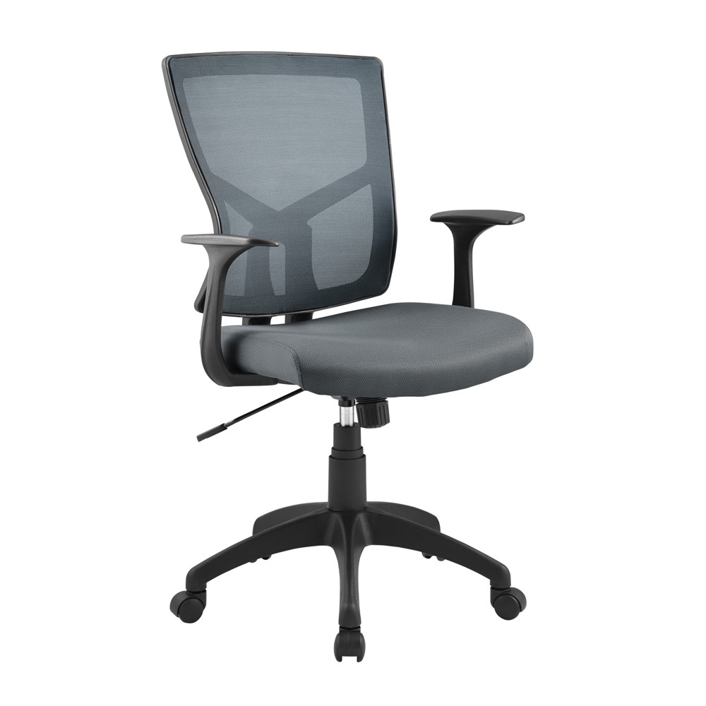 Essential Hartford Mesh Office Chair with Nylon Base Gray - Serta