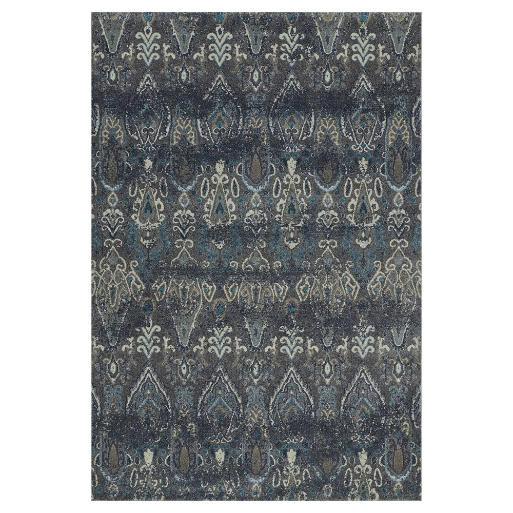 "Image of ""Gray Abstract Woven Area Rug - (5'3""""X7'7"""")"""