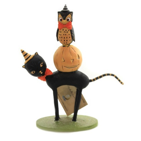 "Halloween 8.5"" Kitten Around Pumpkin Owl - image 1 of 3"