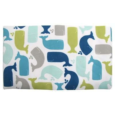 Whale Bath Mat Green - Pillowfort™