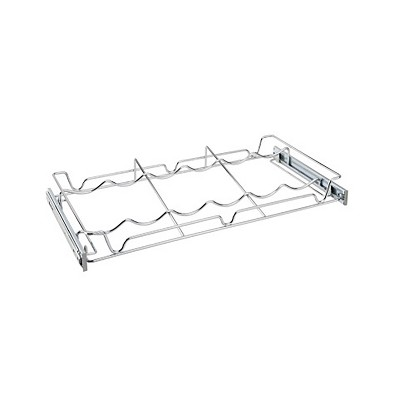 Rev-A-Shelf Sidelines 5WBR-24CR-1 24 Inch Single Wire Pullout 6 Wine Bottle Rack Organizer for 14 Inch Deep Kitchen Pantry or Bar Cabinet Closet