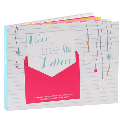 Your Life in Letters Keepsake Book - Pink - image 1 of 5
