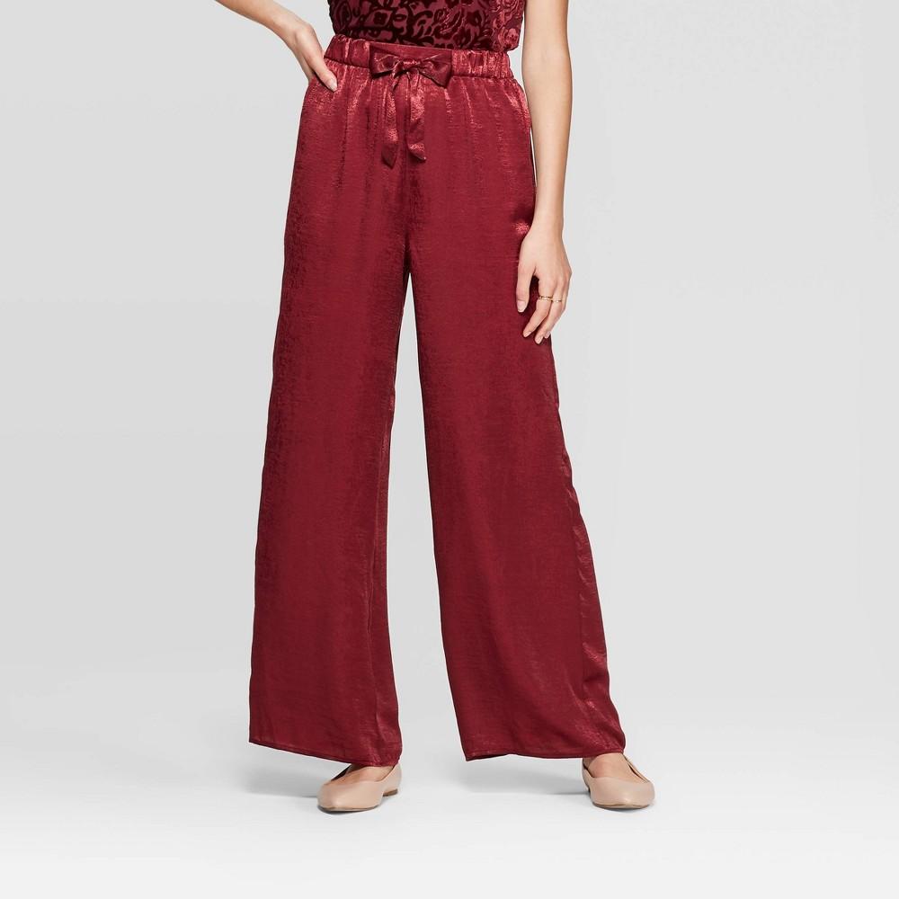 Vintage High Waisted Trousers, Sailor Pants, Jeans Women39s Mid-Rise Tie Front Satin Wide eg Paazzo Pants - Xhiaration8482 $16.09 AT vintagedancer.com