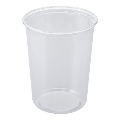 Lollicup Karat 32 Ounce Recyclable Polypropylene Microwave, Dishwasher, and Freezer Safe Round Deli Containers for Hot or Cold Foods (Pack of 500)