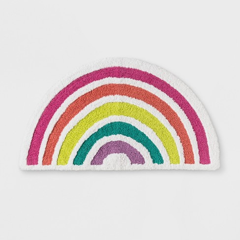 Target Bathroom Rugs | Rainbow Bath Rug Pillowfort