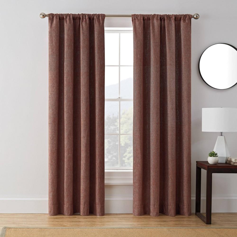 84 34 X50 34 Troy Room Darkening Window Curtain Panel Red Brookstone
