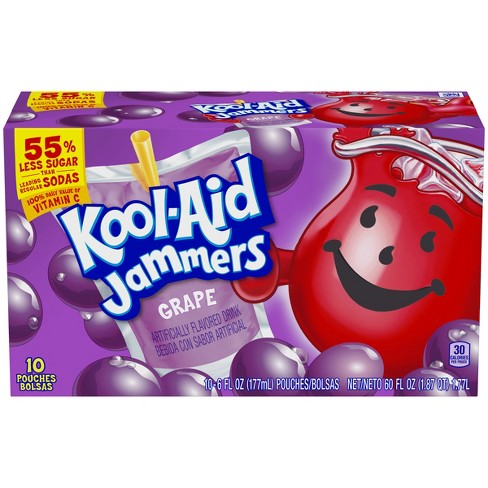 Kool-Aid Jammers Grape Juice Drinks - 10pk/6 fl oz Pouches - image 1 of 3