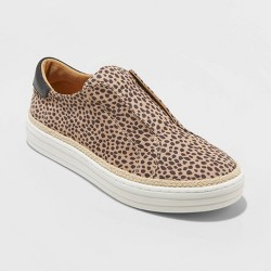 Women's Kalliope Leopard Slip On Sneakers - Universal Thread™ Brown