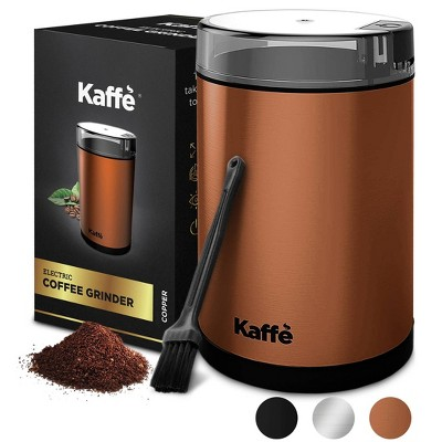 Kaffe Electric Coffee Grinder with Cleaning Brush - Copper - KF2030