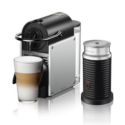 Nespresso Aerocinno Pixie Espresso Machine - Aluminium