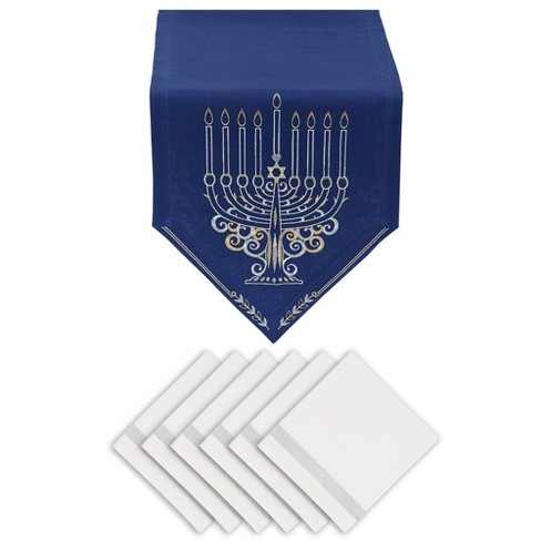 Menorah Embroidered Table Set - Design Imports - image 1 of 4