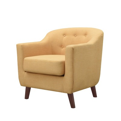 Belka Tufted Upholstered Accent Chair Yellow Ray - miBasics