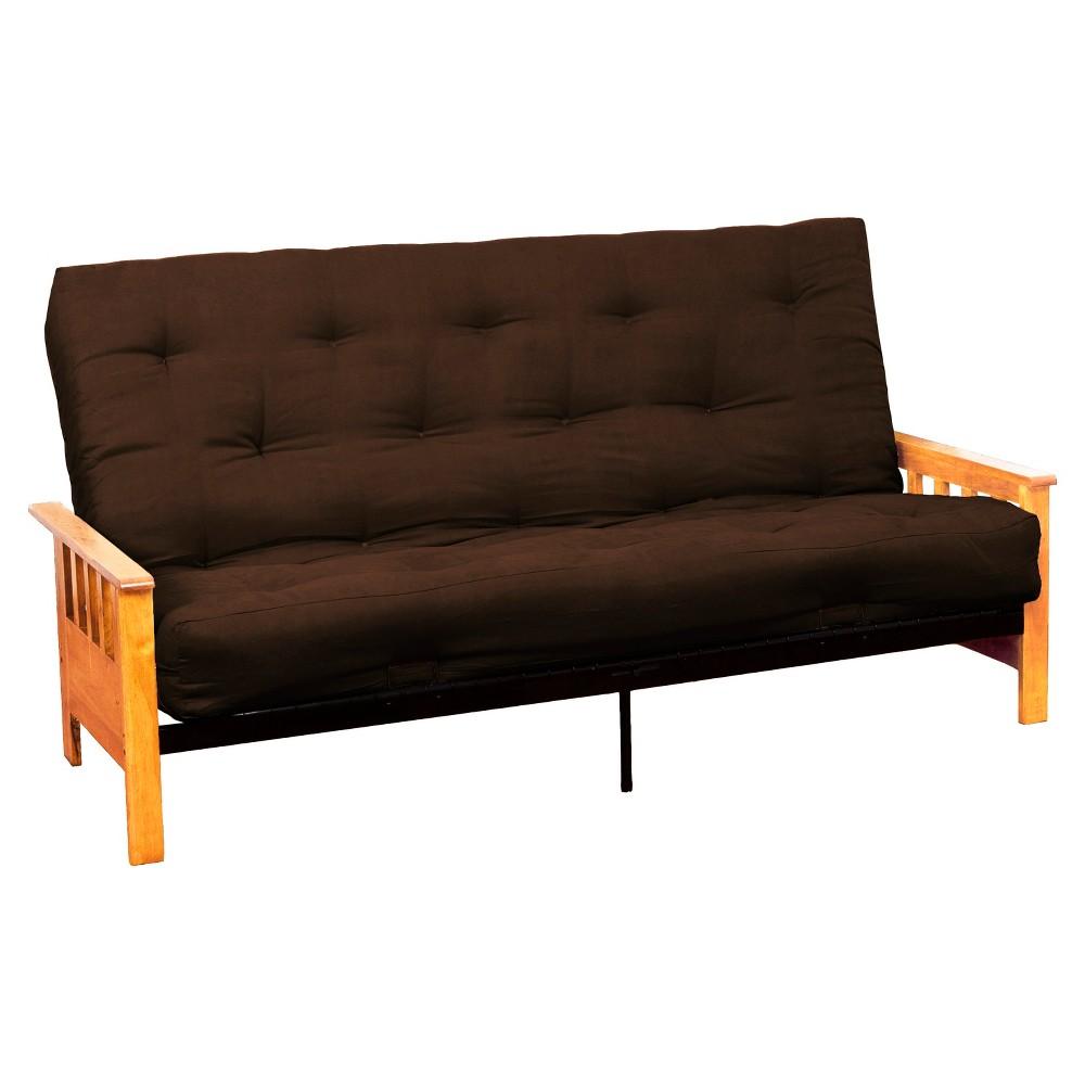 Mission 8 Inner Spring Futon Sofa Sleeper - Natural Wood Finish - Epic Furnishings, Brown