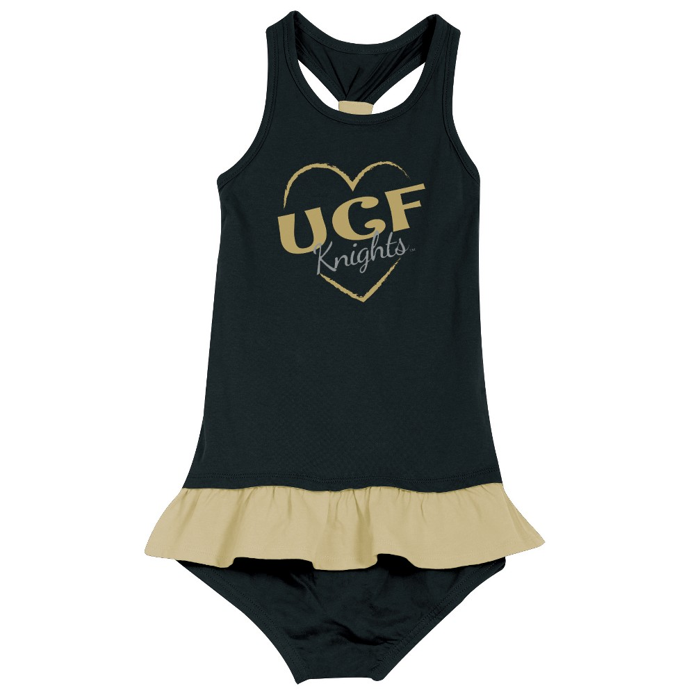 Ucf Knights After Her Heart Toddler Dress 2T, Toddler Girl's, Multicolored