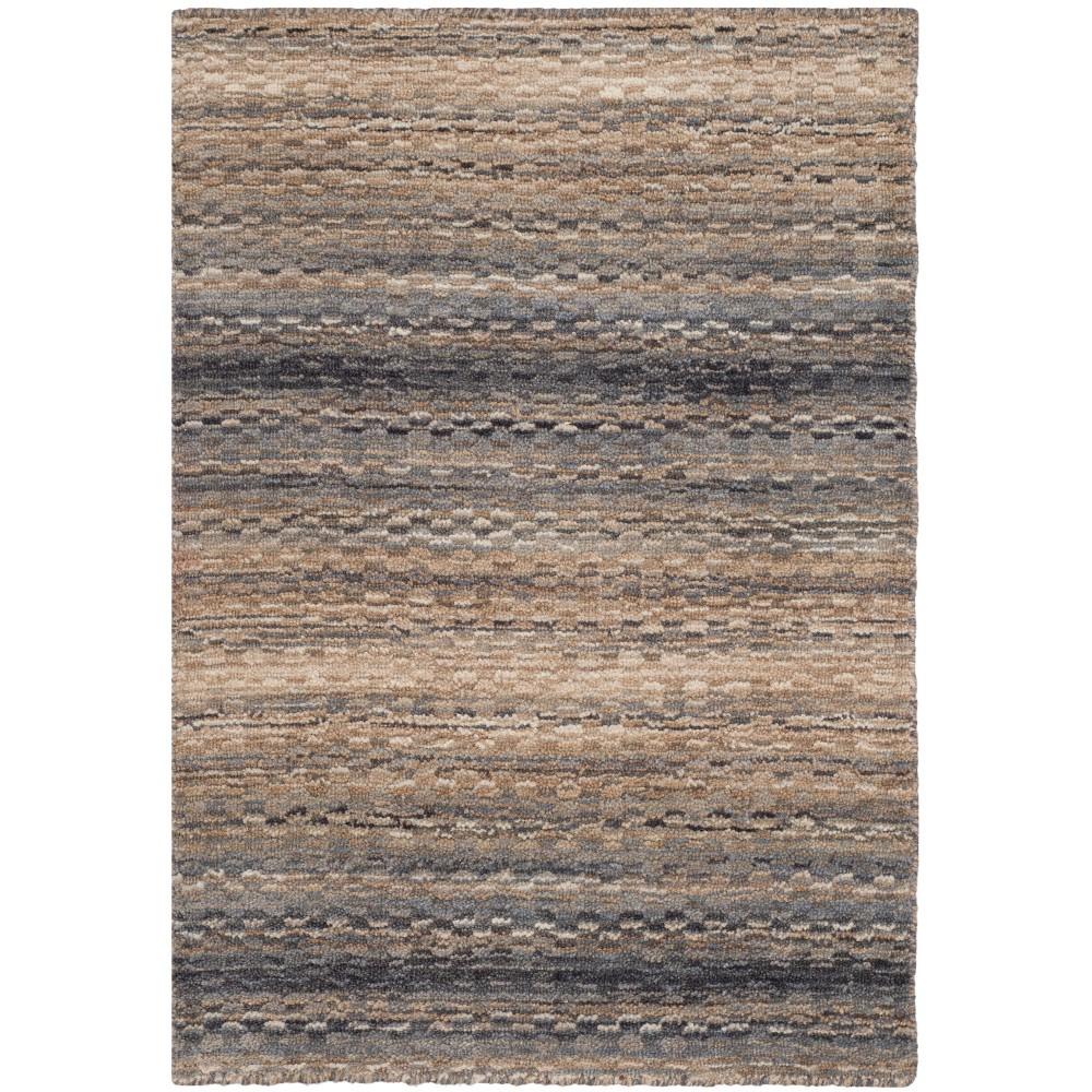 2 X3 Stripe Loomed Accent Rug Gray Safavieh