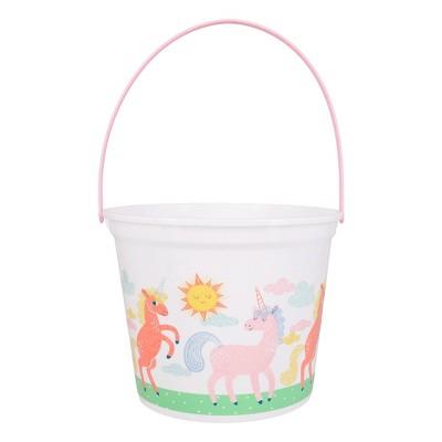 Jumbo Plastic Easter Bucket Printed Unicorn - Spritz™