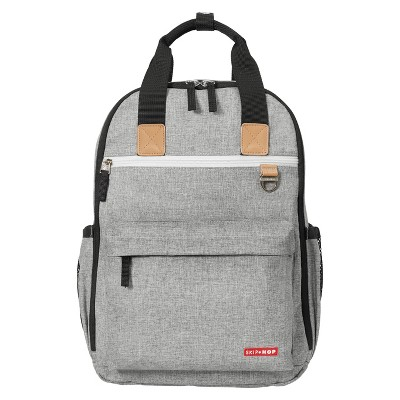 Skip Hop Duo Diaper Backpack - Gray