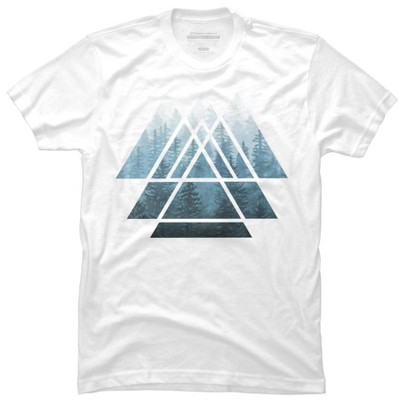 Sacred Geometry Triangles - Misty Forest Mens Graphic T-Shirt - Design By Humans