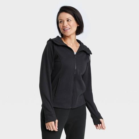 Women's Fleece Full Zip Hooded Sweatshirt - All in Motion™ - image 1 of 4