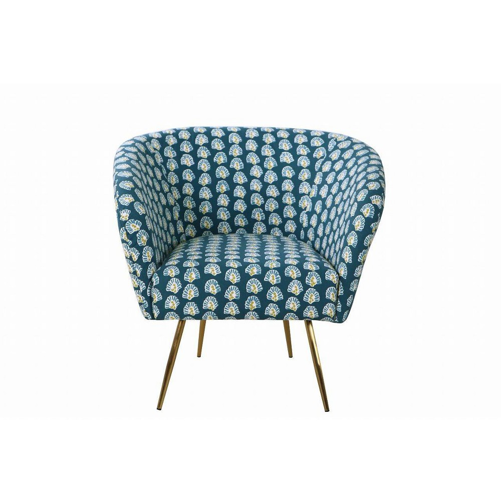 Image of Ashby Accent Chair Teal - HomePop, Blue