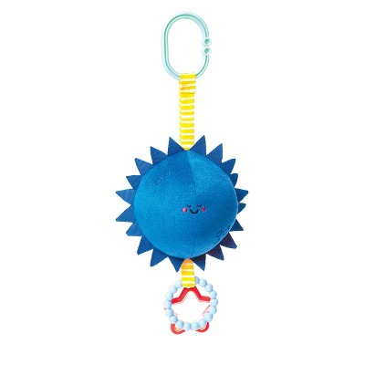 Manhattan Toy Sun & Moon Clip-on Baby Travel Toy with Chime, Rattle and Teethers