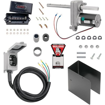 Bulldog 1824200100 Steel Electric Lift Power Drive Kit For 12000 Pound Trailer Jacks on Cars, Trucks, RVs, Campers, & Other Towing Vehicles, Black