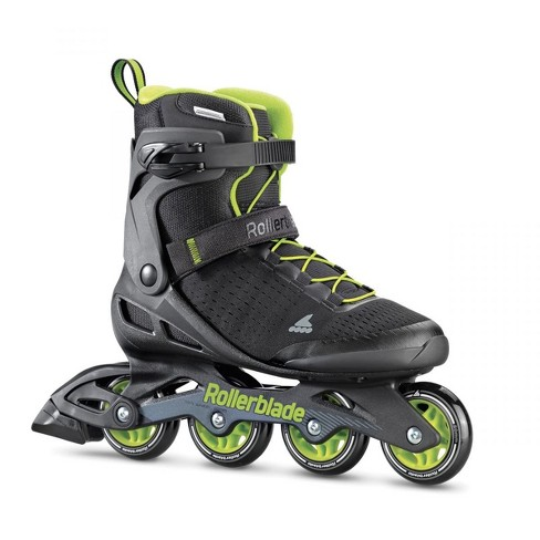 Rollerblade Zetrablade Elite Adult Men's Beginner Intermediate Recreation Fitness Outdoor Rollerblade Inline Skates, Size 12, Black/Lime - image 1 of 4